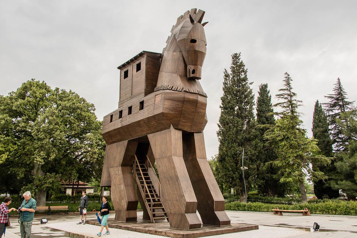 Trojanisches Pferd in Troja