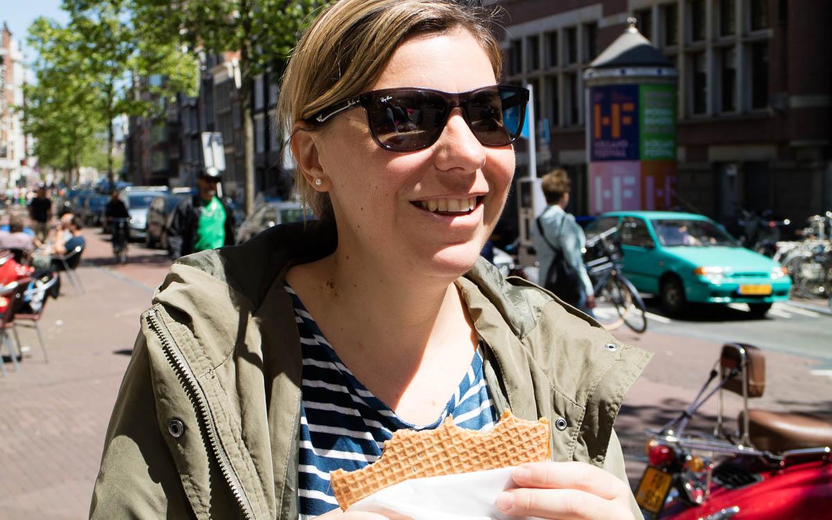 Amsterdam Reisetipps: Stroopwaffel essen