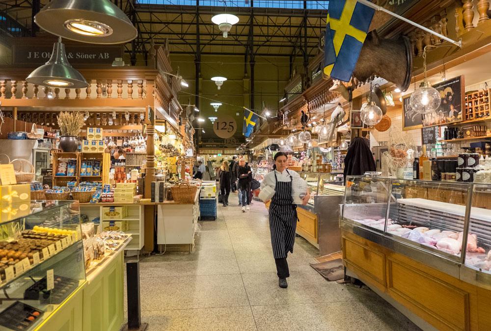 Stockholm Sehenswürdigkeiten Markthalle in Ostermalm Stockholm