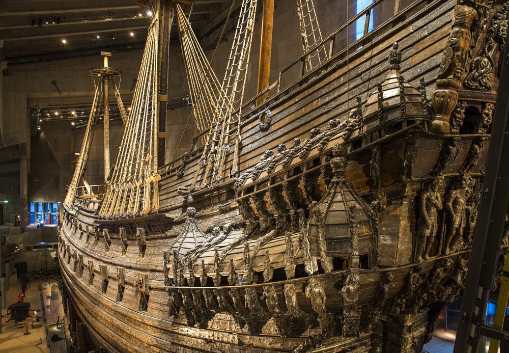 Stockholm Sehenswürdigkeiten: Vasa im Vasamuseet in Stockholm