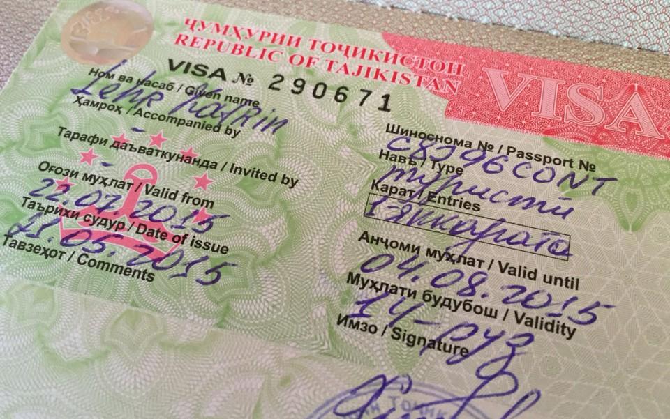 Visum für Tadschikistan im Reisepass