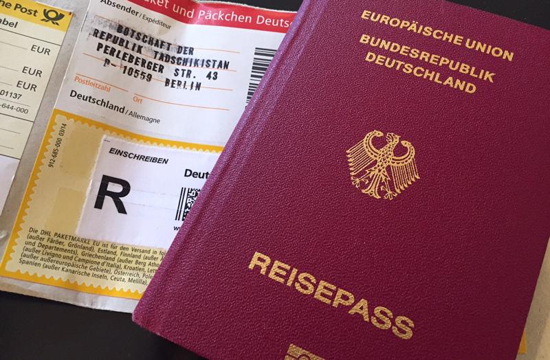 Visum Einschreiben Reisepass