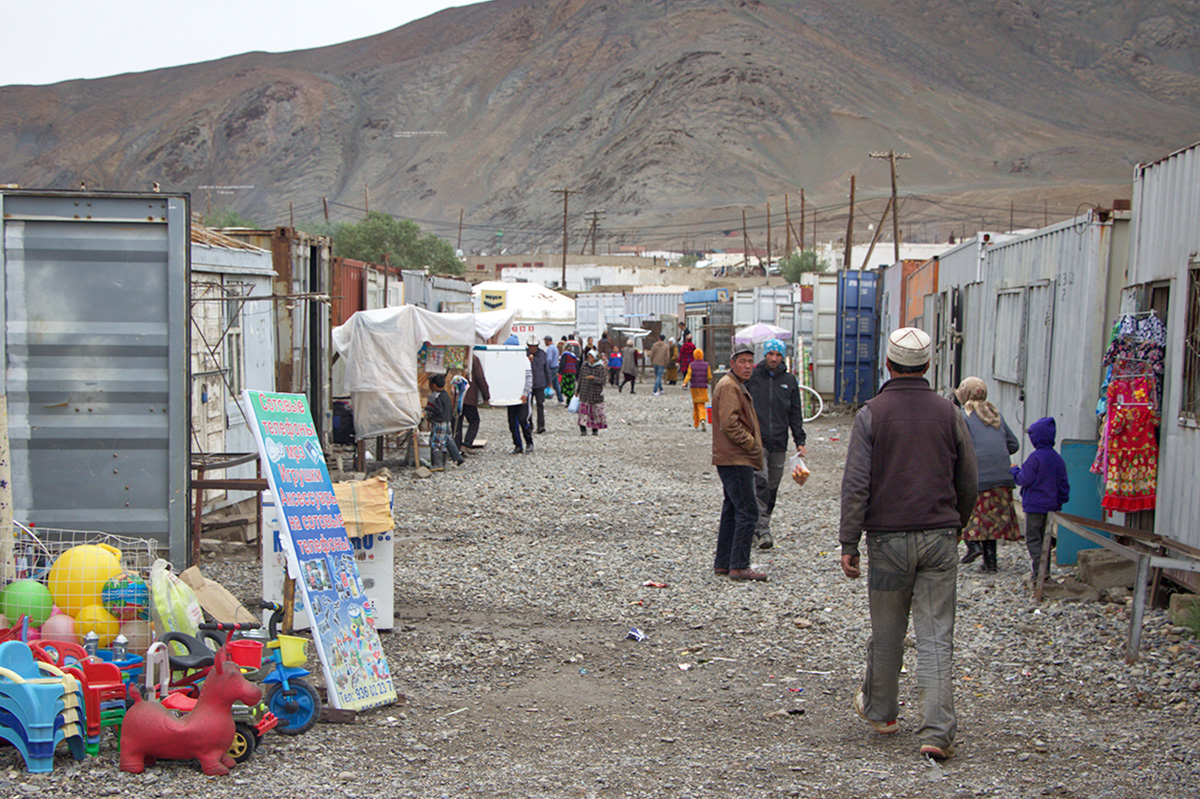 Container Markt in Murgab