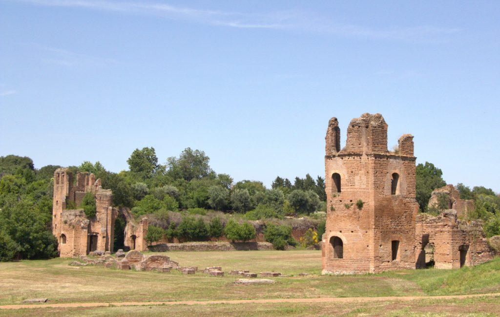 Radfahren Ruinen Via Appia Antica