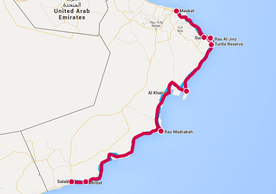 Route Oman Individuell