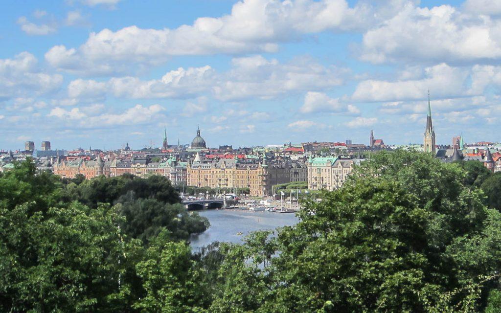Aussicht vom Skansen Freilichtmuseum Stockholm