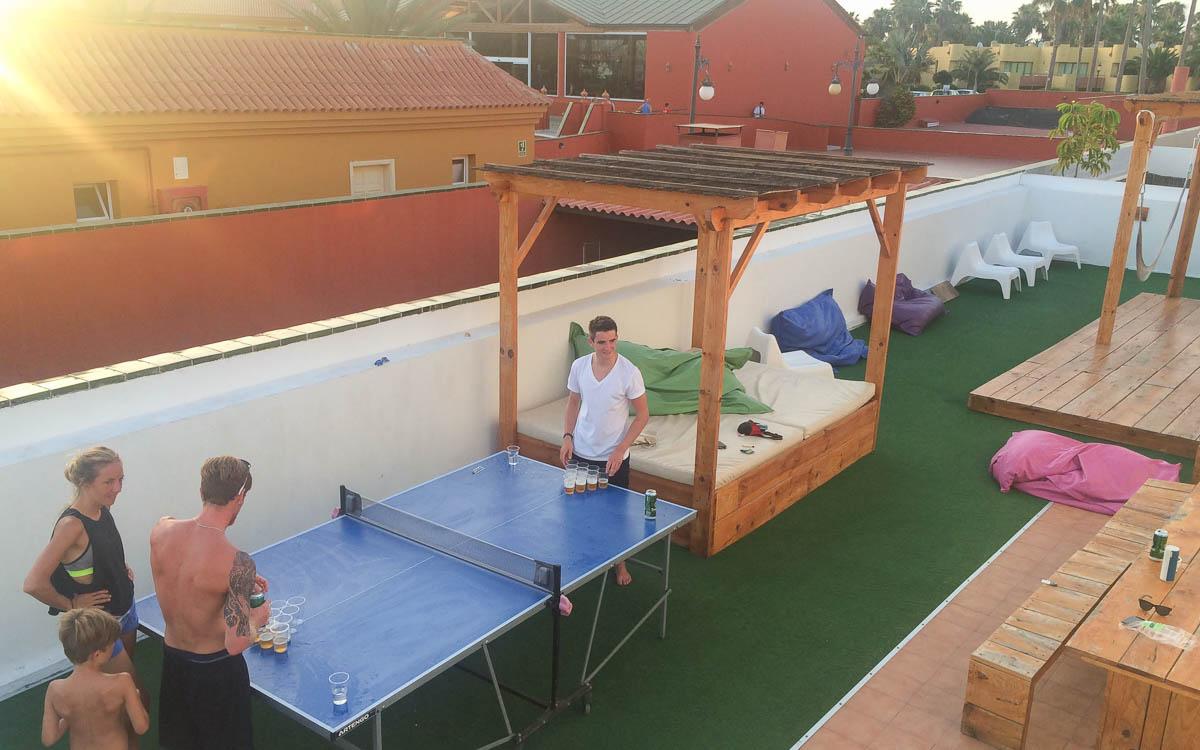 Surfen in Fuerteventura - entspannen im Surfhouse der Surfschule Corralejo