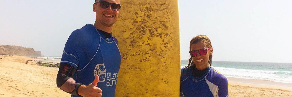 Surfen mit Planet Surf Camps auf Fuerteventura