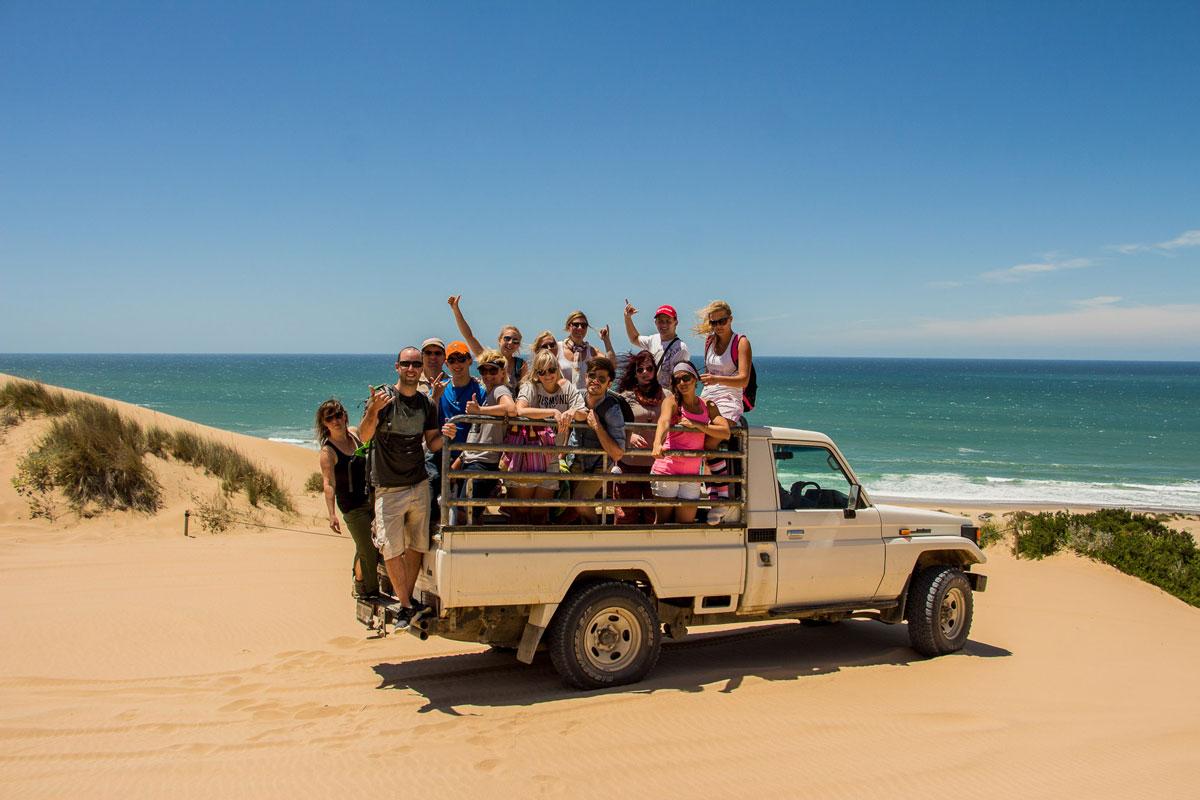Mit dem Pick-up zur Dragon Dune
