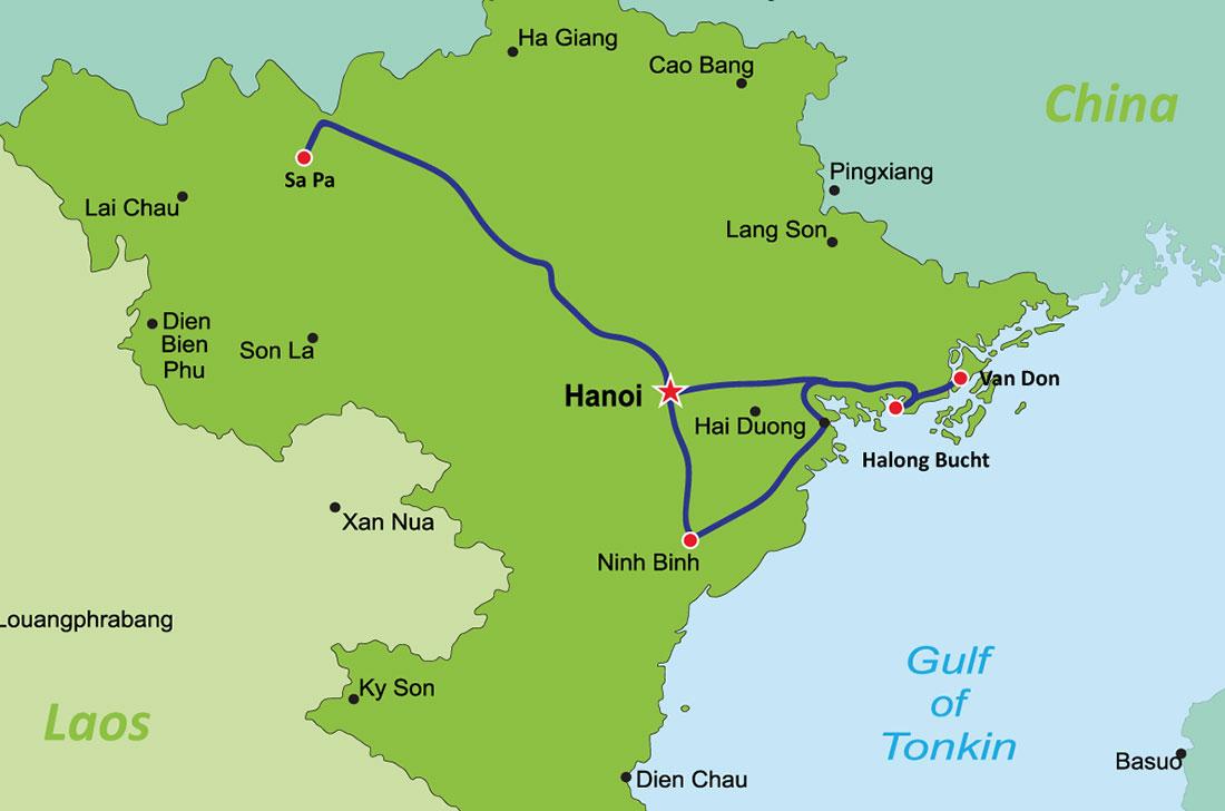 Backpacking Vietnam Reiseroute