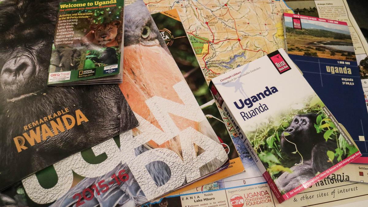 Reiseführer und Karten für Uganda und Ruanda