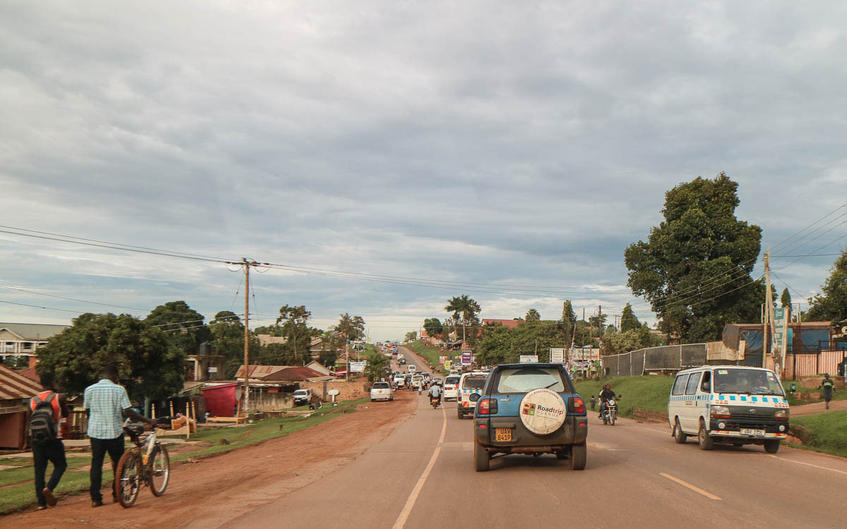 Entebbe - Kampala mit dem Auto
