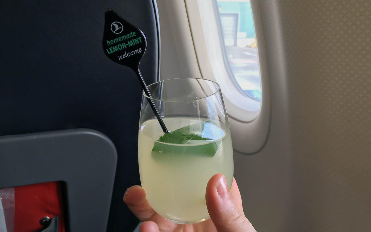 Homemade Lemonade bei Turkish Airlines