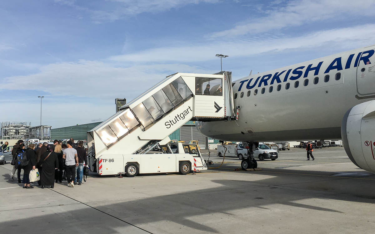 Turkish Airlines Flug in Stuttgart