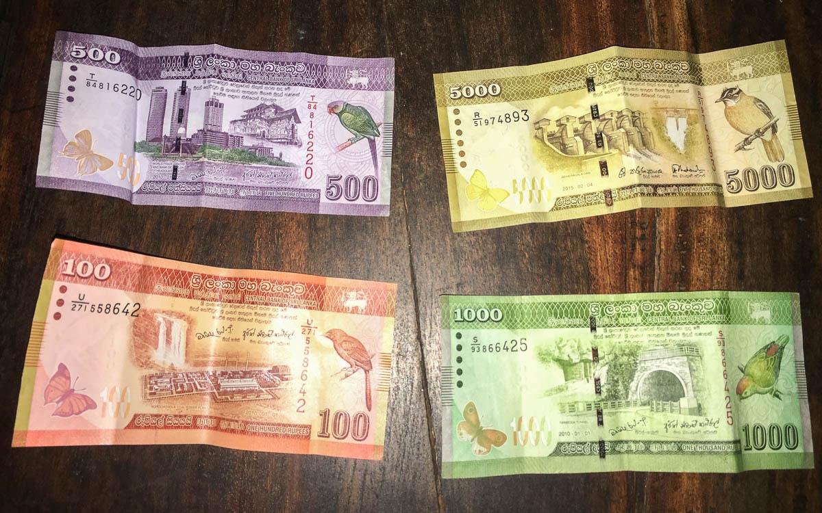 Geld in Sri Lanka