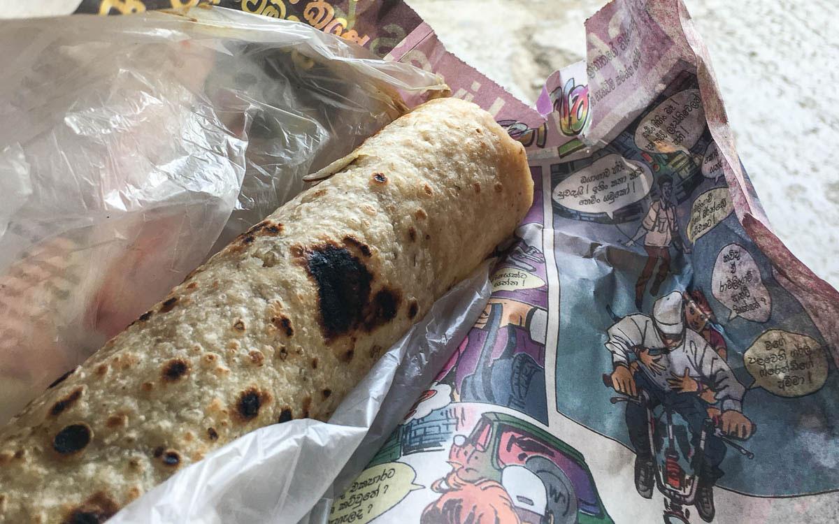 Gefüllte Roti Sri Lanka