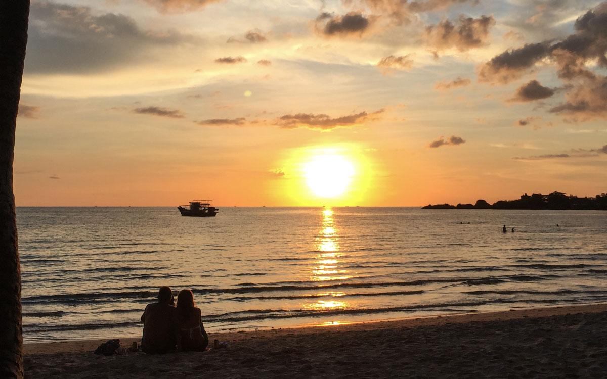 Koh Chang Reisebericht Sonnenuntergang am Strand