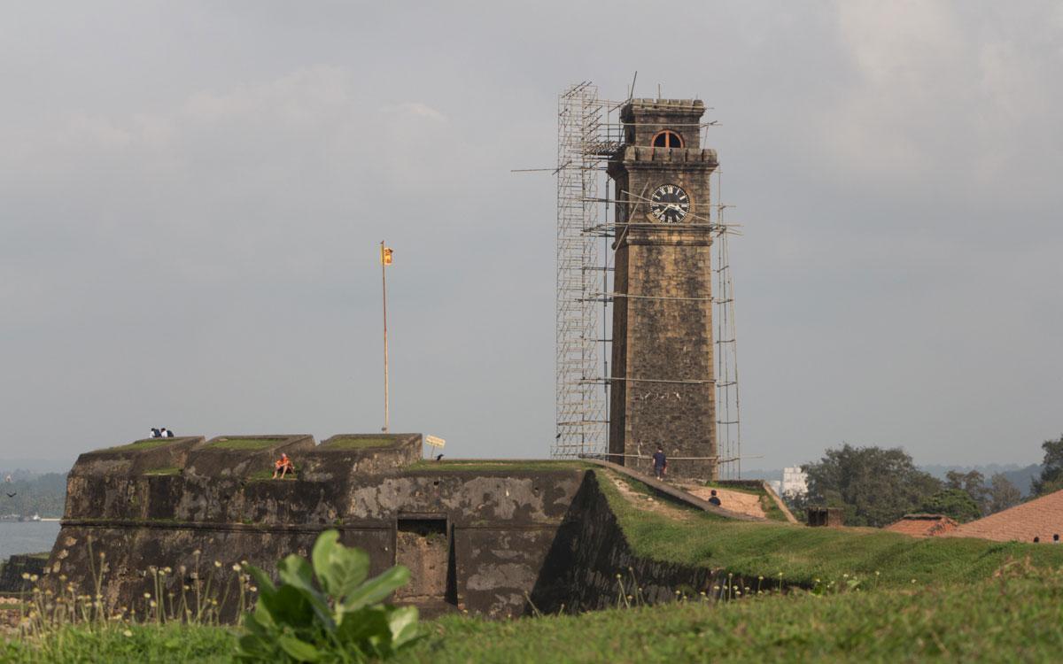 Sri Lanka Sehenswürdigkeiten Uhrenturm von Galle Fort