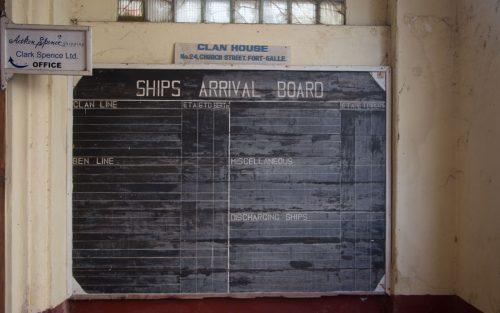 galle-fort- Tafel Schiffe Ankunft