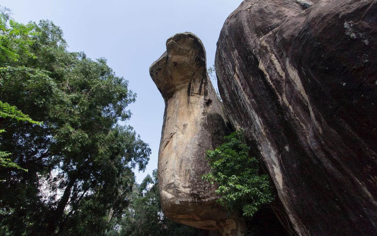 Kobrahauben-Höhle in Sigiriya