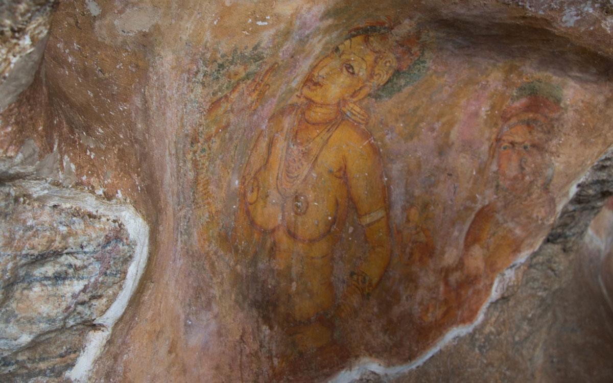 Wolkenmädchen Fresken in Sigiriya