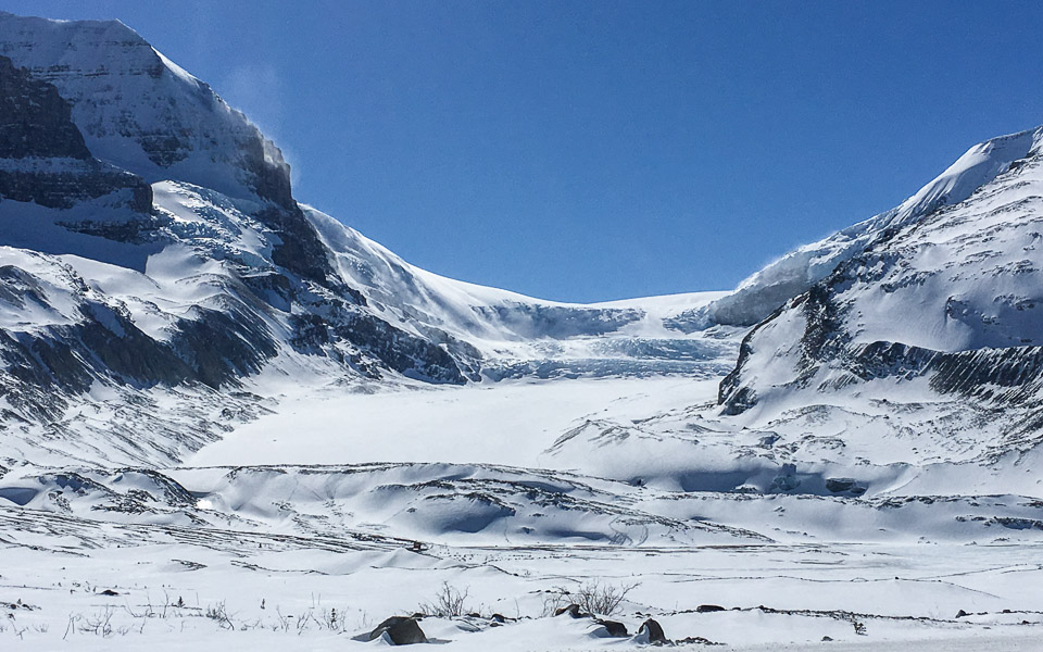 Athabasca Gletscher Highlight am Icefields Parkway