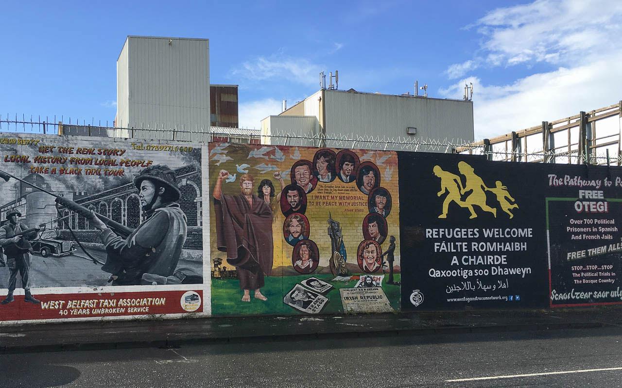 Belfast Sehenswürdigkeiten Street Art Politisch