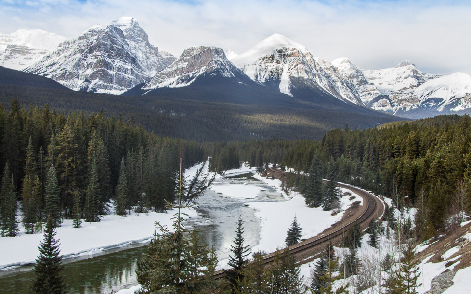 Bow Valley Parkway Aussicht bei Lake Louise
