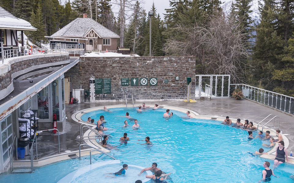 Hot Springs in Banff - perfekt nach einem Skitag