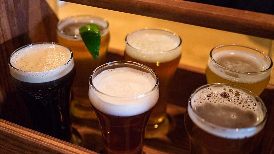 Bierprobe in der Jasper Brewing Company