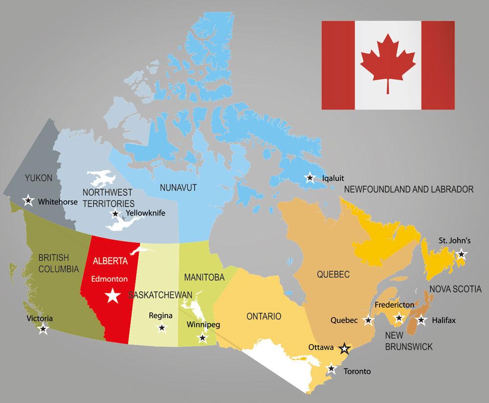 Kanada Karte Übersicht