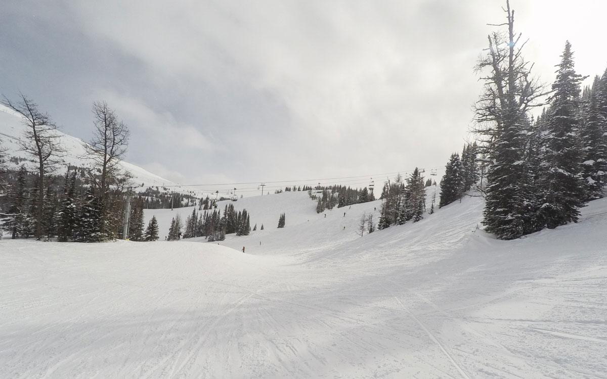 Kanada Rocky Mountains Sunshine VIllage in Banff Skipisten