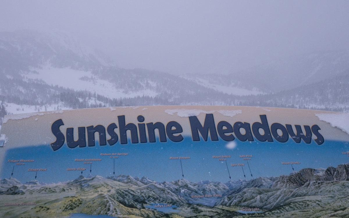 Winter Kanada Rocky Mountains Banff Sunshine Village Sunshine Meadows Schneeschuhwandern