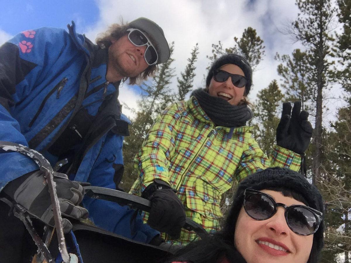Winter Kanada Rocky Mountains Hundeschlittenfahren Musher Katrin