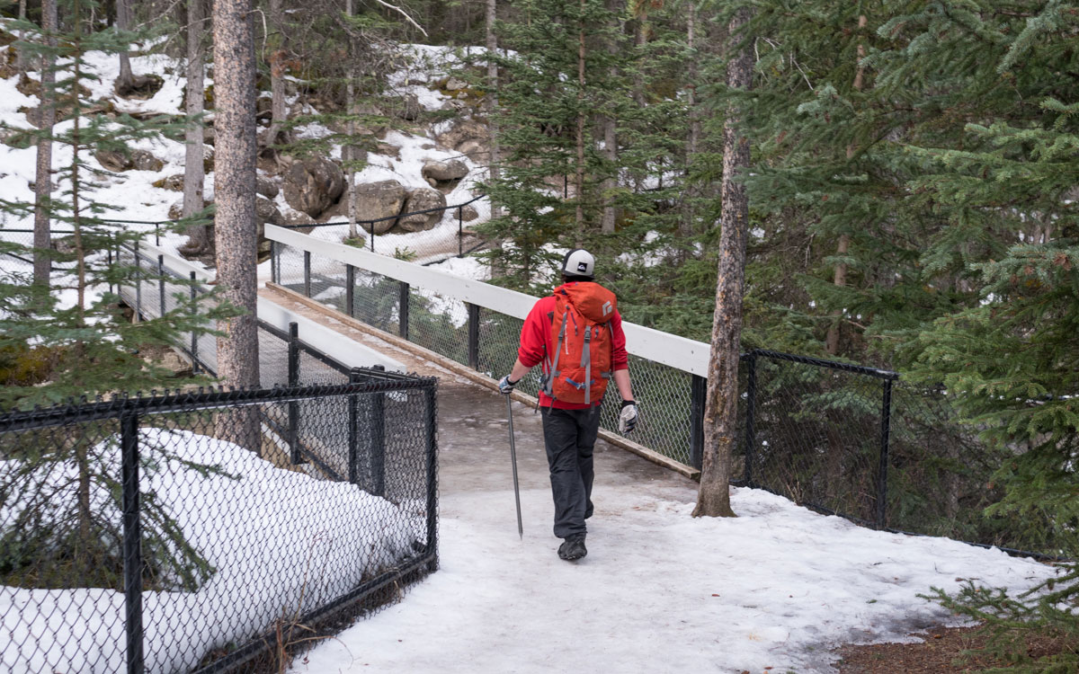 Winter Kanada Rocky Mountain Maligne Canyon Icewalk