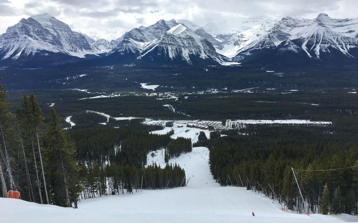 Winter Kanada Rocky Mountains Lake Louise Ski Resort