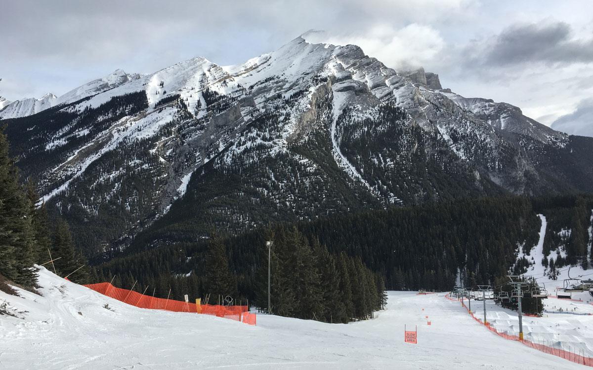 Skifahren Kanada Mt Norquay Panorama Banff