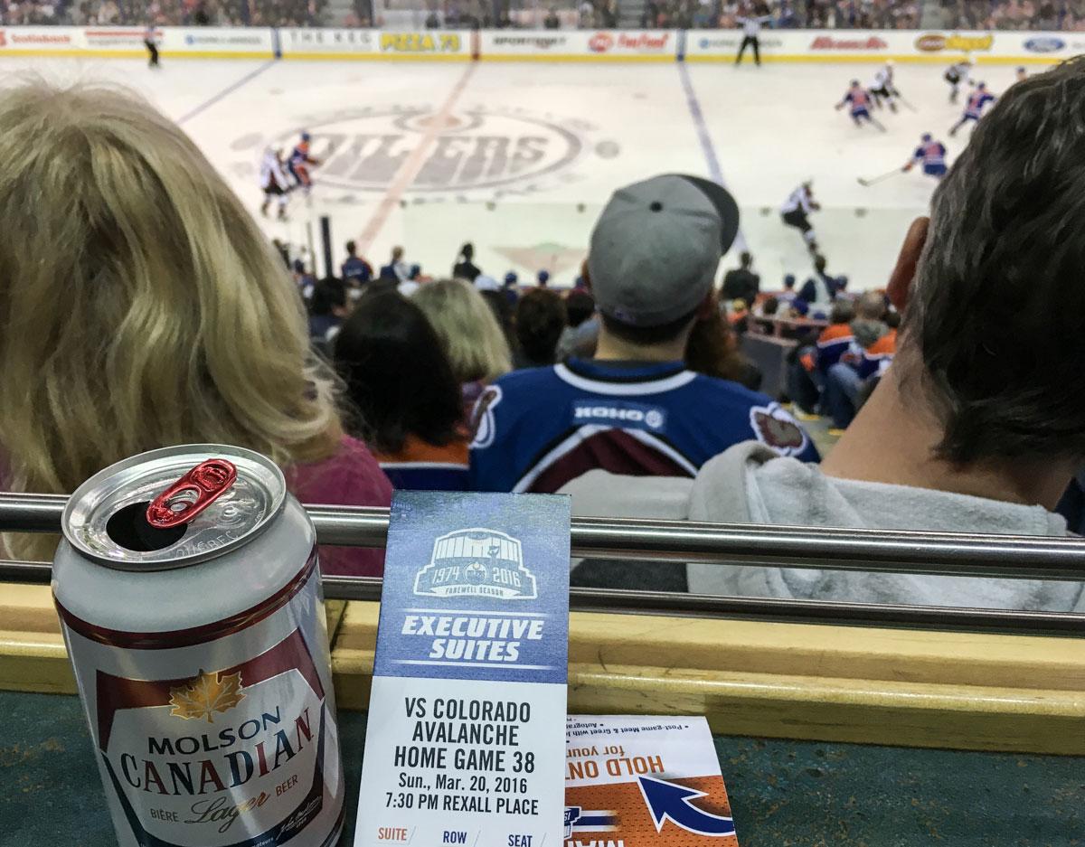 Winter Kanada Rocky Mountains NHL Spiel besuchen