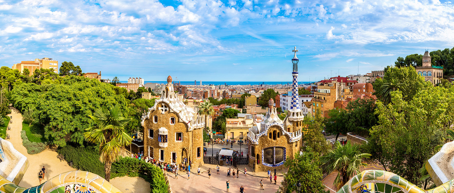 Park Guell in Barcelona best holiday destinations for November