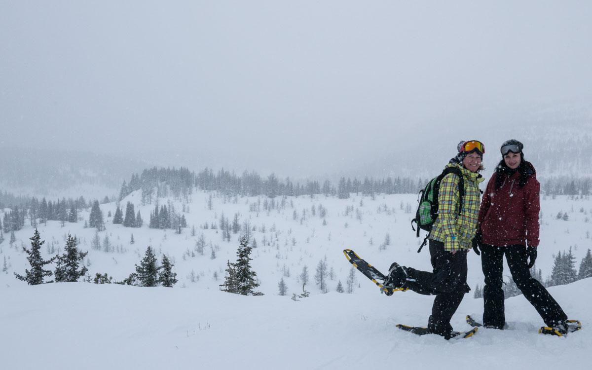 Winter Kanada Rocky Mountains Schneeschuhwandern Banff