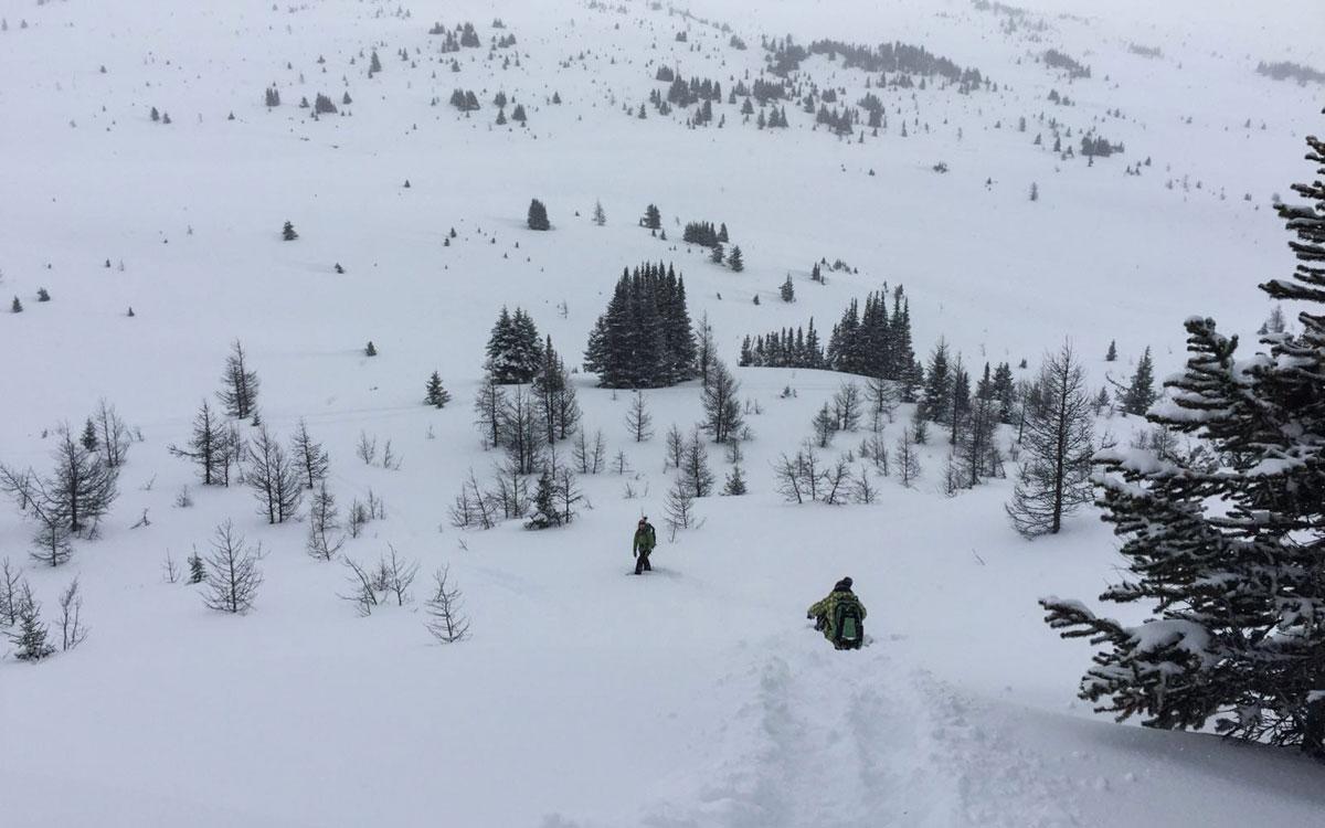 Winter Kanada Rocky Mountains Schneeschunwanderung Banff Winter