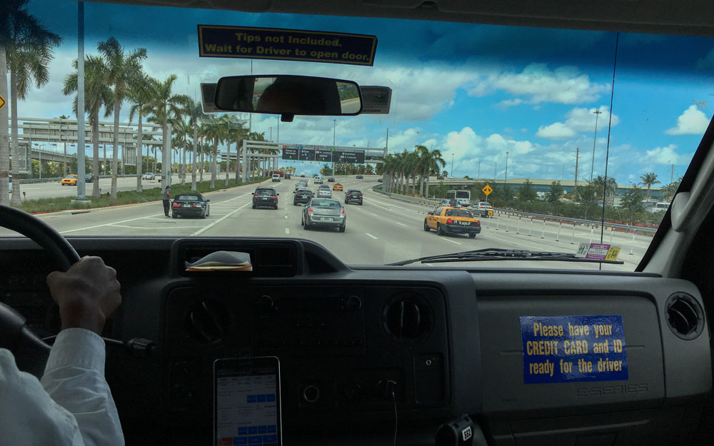 Mit Supershuttle nach Miami Beach