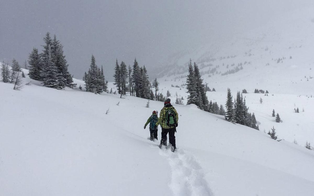 Winter Kanada Rocky Mountains Schneeschuhwanderungb