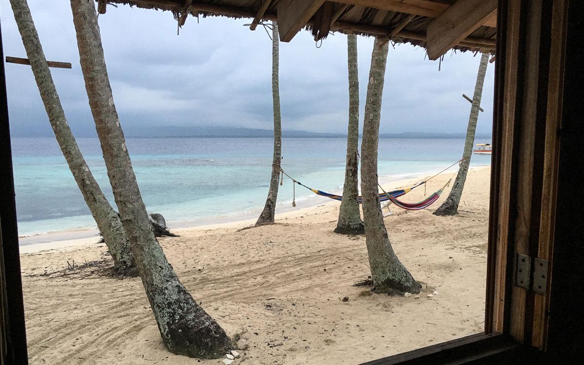 Ausblick Isla Aguja am Morgen San Blas Panama