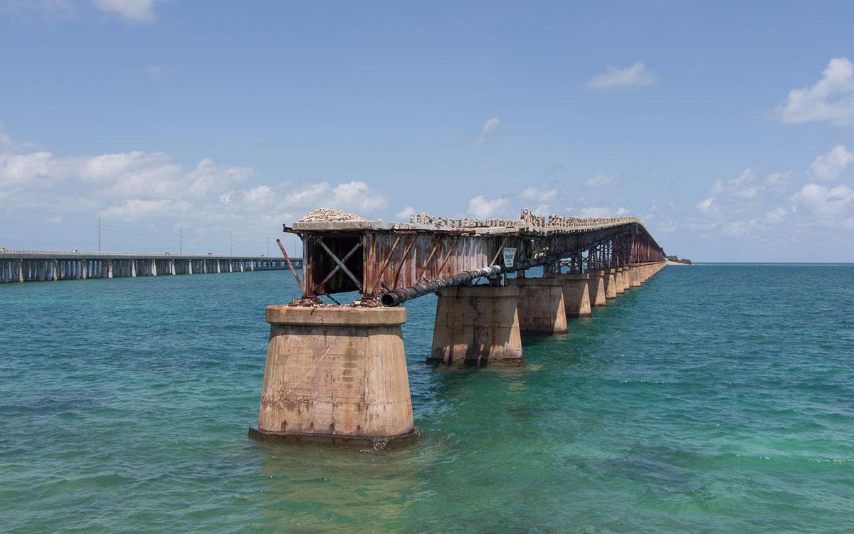 Florida Rundreise Tipps: Sehenswürdigkeiten Florida Keys: Alte Eisenbahnbrücke bei Bahia Honda