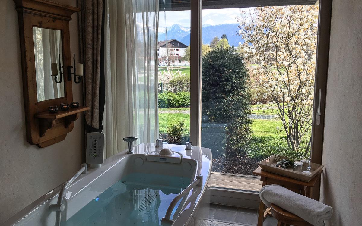 Allgäu Oberstaufen Lindner Resort ZImmer Ausblick