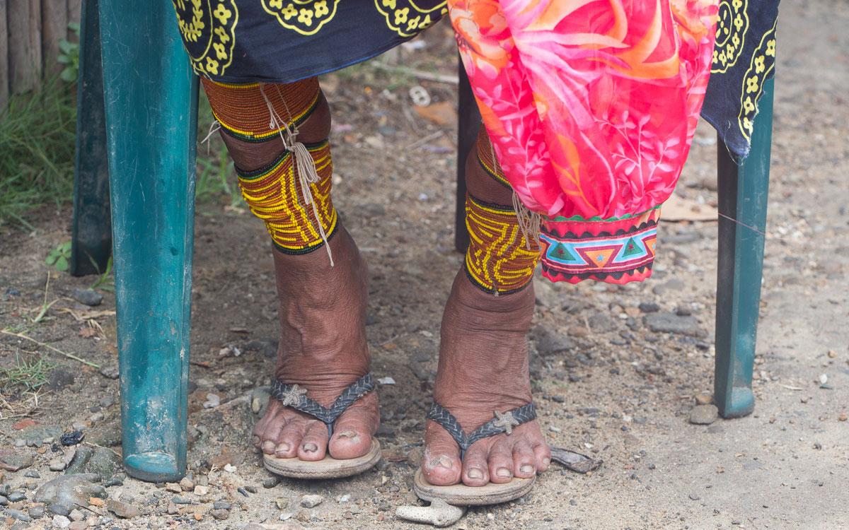 Kuna Yala Indianer Carti Fussschmuck