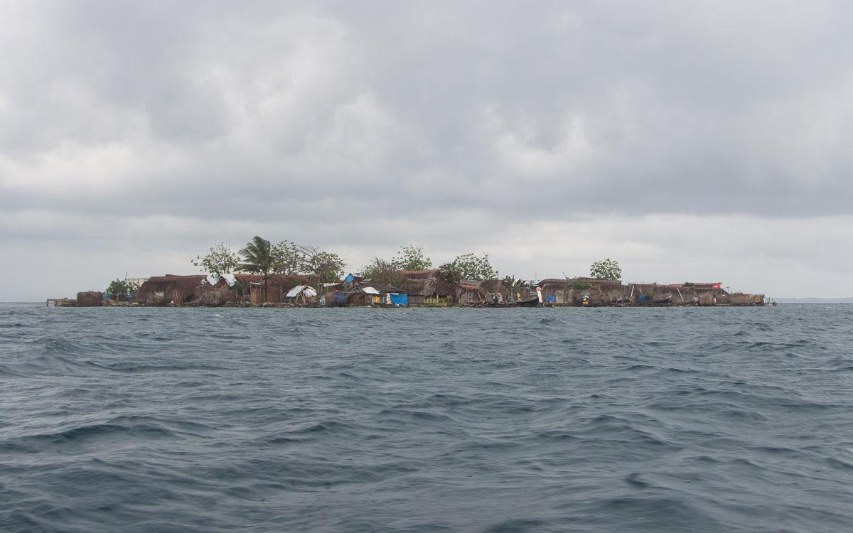 San Blas Inseln Guna Yala kleine Inseln wohnen auf engstem Raum