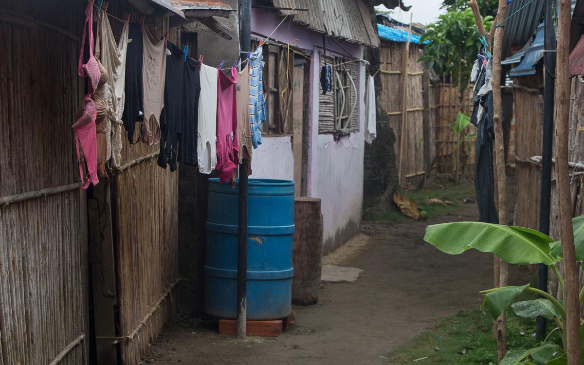 San Blas Inseln Guna Yala Hauptstadt Waschtag