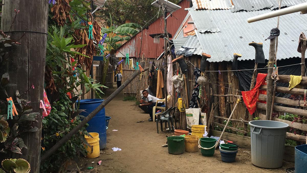 San Blas Inseln Guna Yala Gassen Hauptstadt